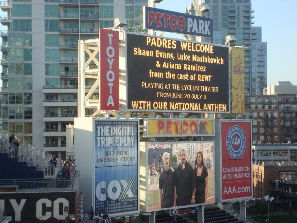 RENT Cast Sings For the Padres!